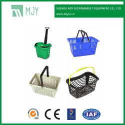 Supermarkt-Speicher-Plastikhandeinkaufskörbe