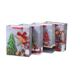 فاخرة طباعة هدية التغليف صديقة البيئة عيد الميلاد ورق حقائب التسوق