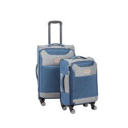 Мода снежинка полиэфирная ткань двойные колеса мягкий внутри передвижной поездки багаж