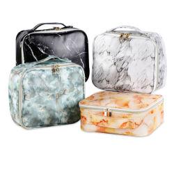 Новые творческие мраморным шаблон косметический мешок PU Многофункциональная сумка для хранения поездки