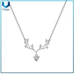 OEM на заказ свадебный подарок Anniversaary моды 925 серебряных украшений цепочка с оленями очарование частоты сердечных сокращений