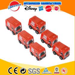 Interesante tire hacia atrás del coche de juguetes para niños en autobús de promoción de los alimentos