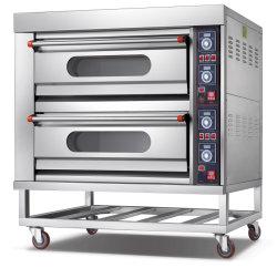상업 주방 제빵 장비 제과 기계 전기 피자 오븐 2 데크 4 트레이 푸드머신