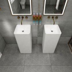 목욕탕 손 세면기 인공적인 돌 주춧대 Upc 세척 수채