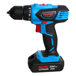 Fixtec Power Tools Drill 20V 2X2000mAh Li-Ion Akku Impact Electric Akku-Bohrmaschine