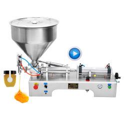 Congestionamento de semi-automática de ketchup iogurte creme cosméticos máquina de embalagem de enchimento
