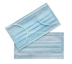 Bianco protettivo della polvere maschera di protezione medica a gettare di Earloop delle 3 pieghe 50PCS in un sacchetto