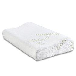 タケカバーベッドの首のViscoの伸縮性がある泡の枕輪郭のメモリ泡の枕