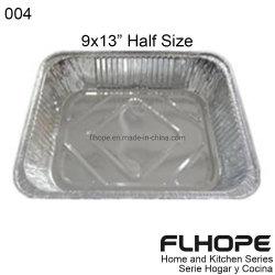 [004]Hornear ollas de aluminio desechable utensilios de cocina 9X13 molde para hornear