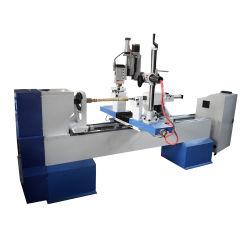 Tornio di giro di legno di CNC della mazza da baseball Apex15030 con la funzione Drilling di lucidatura