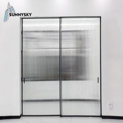 سعر الجملة تصميم جديد الحد الأدنى ضيق الحد الألومنيوم الحدود الضيقة مزدوجة الباب المنزلق الزجاجي