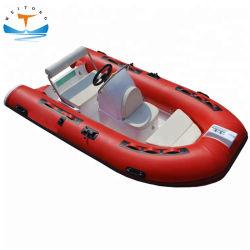 Hypalon certificado CE ou PVC costela barata de alumínio rígido de barco de pesca infláveis barcos infláveis para venda