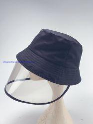 TPUのハンドシールドの男女兼用のバケツの帽子が付いている綿のあや織り