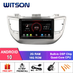 "Witson grande ecrã de 9"" com sistema Android 10 aluguer de DVD para a Hyundai Tucson/IX35 (baixo) 2016"