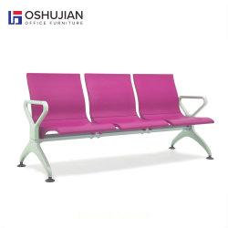 Banque populaire salon de beauté public métal Tandem Salle d'attente ligne Banc d'attente de la présidence de l'aéroport de PU