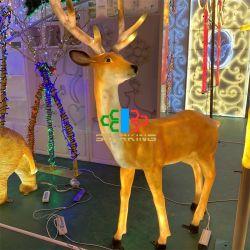 [لد] خارجيّة عيد ميلاد المسيح نحت [3د] أيّل الحافز ضوء لأنّ حديقة فناء زخرفة