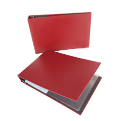 Talonario Carpeta de anillas de plástico cubiertas de la carpeta de archivos