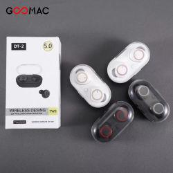 이동 전화 Dt 2 Tws 5.0 Bluetooth 헤드폰 백색을%s Bluetooth 이어폰 부속품