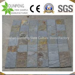 中国江西の工場は40*20cmの自然な長方形のスレートの屋根瓦を指示する