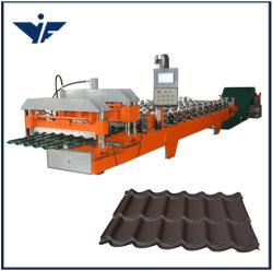 2020 1100 de alta calidad Teja esmaltada enrolladora paso Tile Roofing conformado de chapa maquinaria
