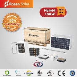 Rosen ganze Set 10kw Hybrid Solar Energy Storage System in Ein Paket