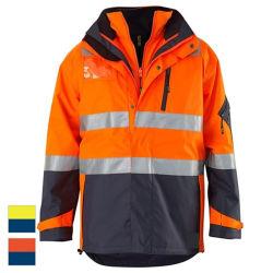 Vestuário de segurança reflexivo impermeável com fita de 3 m 3 em 1 Conjunto de Camisa