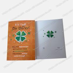La grabación de tarjeta de felicitación, tarjetas de Año Nuevo, la tarjeta de Vacaciones