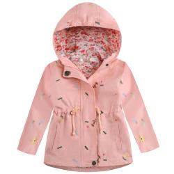 Kids Veste Manteau à capuchon d'hiver coupe-vent fleur tranchée occasionnels à capuchon d'impression enduire ESG16099