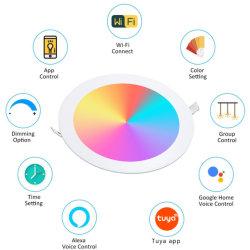 4인치 9W RGBW 스마트 LED 매입형 패널 조명 Alexa Echo & Google과 호환되는 ETL Energy Star 인증서 Yard & Garden의 홈 어시스턴트 및 Tuya 앱