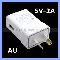 De Adapter van de Reis van de Lader van de Muur van de Stop USB van Au voor de Rand van Samsung S3 S4 S5 S6 S7, neemt nota van 2 3 4 5