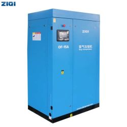 نظام تبريد كهربائي يعمل بالتيار المتردد ثابت صناعي غير مسرب يعمل بالهواء، 8 بار 10 بار انخفاض الضوضاء زيت بدون ضغط نوع ضغط مضخة ضواغط الهواء لمدة الصناعة الطبية / الأكسجين