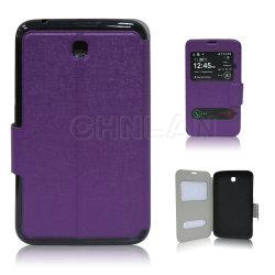 Custodia Smart flip in pelle con schermo S View per Samsung Galaxy Tab 3 7.0 T211 P3200