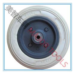 Borde de plástico de 7 pulgadas de goma espuma de poliuretano ruedas cochecito 7X2.5