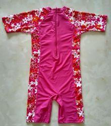 Детский лайкра короткие втулки купальный костюм и спортивный костюм
