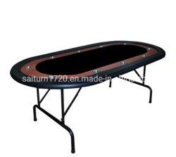 Mesa oval de Poker dobrável com Mesa de pista/Casino/Mesa dobrável para Uso doméstico e de clube