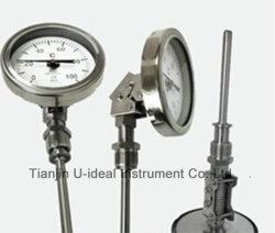 El sensor de temperatura/Gauge-Temperature -instrumento de medición de termómetros bimetálicos
