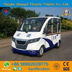 de Elektrische Vierwielige Kleine Patrouillewagen Met lage snelheid met 4 wielen van de Politieagent van de Auto van 4 Seater