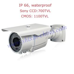Cámara de seguridad Sony Effio bala-E 700TVL CCD con Menú OSD 36PCS IR LED vision nocturna interior impermeable al aire libre&2.8-12mm Lente ajustable+1 año de garantía