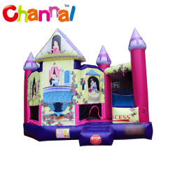 Prinzessin Inflatable Jumping Bouncer Castle mit Plättchen