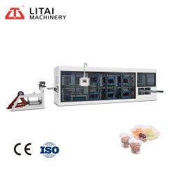 PE/PP/PS/PET/PVC Pplastic jetables d'injection de boîte à lunch, plateau à œufs machine de thermoformage