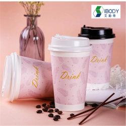 Revêtement de PE Café biodégradables boisson chaude les tasses de papier