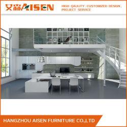 2020 Grado 45 Dedo biselada características tirar un estilo moderno acabado lacado gabinetes de cocina con diseño CAD