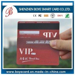 Bande magnétique et la signature de bord transparent carte VIP