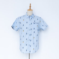 Camicia a manica corta stampata per uomo