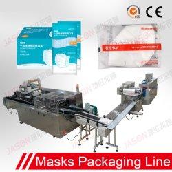 Automatische 3ply chirurgische medizinische WegwerfN95 Gesichtsmaske-Biskuit-Nahrungsmittelkosmetik-Kuchen-Plätzchen, die verpackenverpackungs-Paket-Produktionszweig Maschinen-Maschinerie bilden