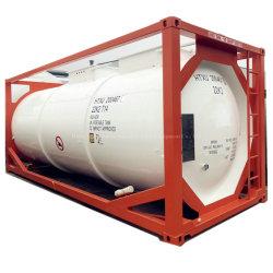 염산 Un1789용 T14 해상 이오뱅크 라이닝 컨테이너 탱크 HCl(IMDG Chemcial ISO 탱크 이동식 IMO)