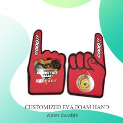 Espuma de EVA de Promoção de Design Personalizado Luvas torcendo torcendo os dedos de espuma Mãos