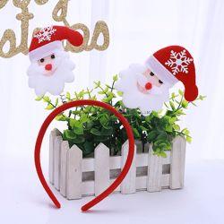 Banden van het Haar van de Kerstman van de Hoofdband van de Slijtage van de Geweitakken van het Rendier van de Hoepel van Kerstmis van de gift de Hoofd