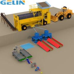 Processamento de ouro móvel Preço de fornecedor de equipamentos de mineração em pequena escala, mina de diamantes aluviais Placer Lavagem Mineral de areia do rio