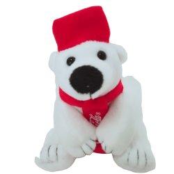 부드러운 봉제 봉제 봉제 완구이 크리스마스 북극곰 동물 봉제 장난감 스카프